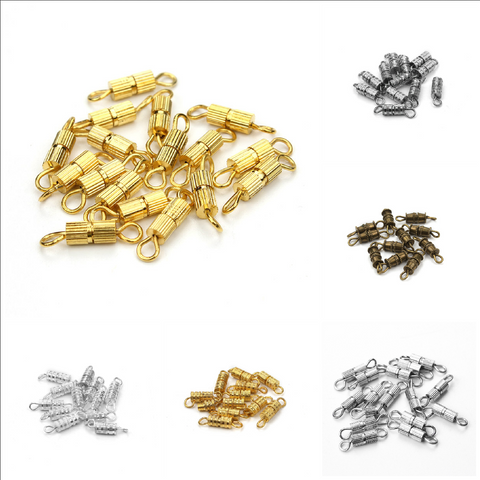 10 pc Screw Clasps 15mm x 4mm - Jewelry Making - Jewels Exports