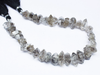Bead, Diamond Quartz (natural), 12-14mm hand-cut faceted step cut Tumble, A grade, Mohs hardness 7, Sold per 8-inch strand SKU1586 - Jewels Exports - 1