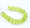 10 Beads - 6mm - Transparent Top Quality Green Peridot Smooth Roundel Beads Strand - Jewels Exports - 1