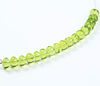 10 Beads - 6mm - Transparent Top Quality Green Peridot Smooth Roundel Beads Strand - Jewels Exports - 2