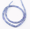 14 Inches - 3-5mm - Natural Blue Tanzanite Faceted Roundel Beads Strand JE 6969 - Jewels Exports - 2