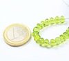 10 Beads - 6mm - Transparent Top Quality Green Peridot Smooth Roundel Beads Strand - Jewels Exports - 3