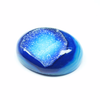 Beads, Blue Druzy (coated), 30x23mm hand-polish oval, A grade, Mohs hardness 7, Sold per 1 Gem SKU2932 - Jewels Exports - 2