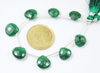 5 Inches - 11-12mm - Natural Green Emerald Faceted Heart Drop Beads Strand JE4294 - Jewels Exports - 2