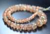 Red Sunstone Micro Faceted Rondelle Beads, 7-13mm, 14 inches, SKU1316AB - Jewels Exports - 2