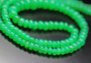 Top Quality Apple Green Chrysoprase Smooth Rondelle Beads Strand, 4-9mm, 18 inches, SKU7973AB - Jewels Exports - 1