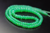Top Quality Apple Green Chrysoprase Smooth Rondelle Beads Strand, 4-9mm, 18 inches, SKU7973AB - Jewels Exports - 2