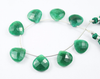 Natural Green Emerald Faceted Heart Drop 5.5 Inches - 14-15mm - Beads Strand JE4511 - Jewels Exports - 2