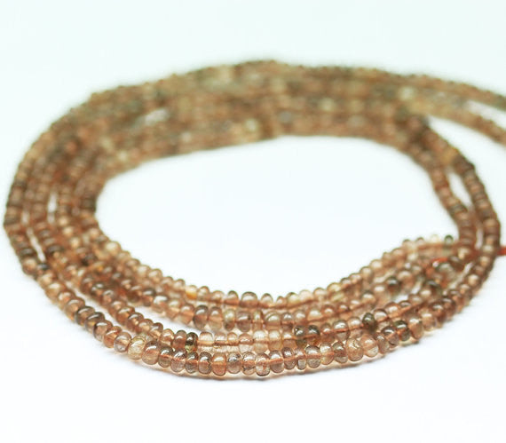 Rare Andalusite Smooth Rondelle Beads Strand, 3.5mm, 14 inches, SKU7882AB - Jewels Exports - 1