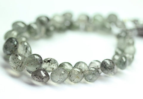 Rare Moss Quartz Micro Faceted Onion Beads, 9-13.5mm, 9 inches, SKU7946AB - Jewels Exports - 1