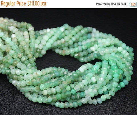 Sale Chrysoprase shaded micro faceted rondelle beads, 5mm, 14 inches, SKU9352/M - Jewels Exports