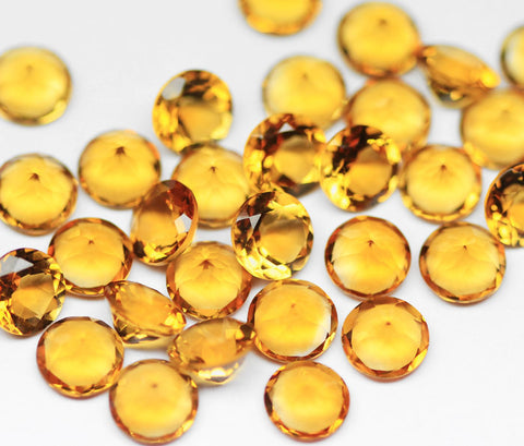 Natural Brandy Citrine 6x6mm Faceted Round Cut Gemstone - 1 Gem, SKU7220/S - Jewels Exports