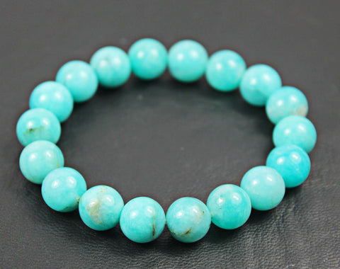 Beads Bracelet, Amazonite (natural), 10mm round, A grade, Mohs hardness 6 to 6.5. SKU155A - Jewels Exports