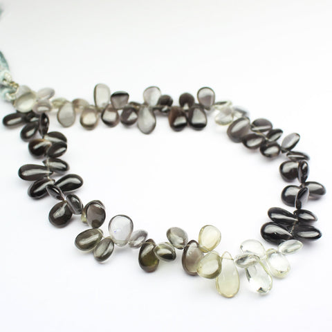 Bead, Cat's Eye (natural), 7-8mm smooth pear drop, A grade, Mohs hardness 6, Sold per 4.5 inch strand SKU1161A - Jewels Exports