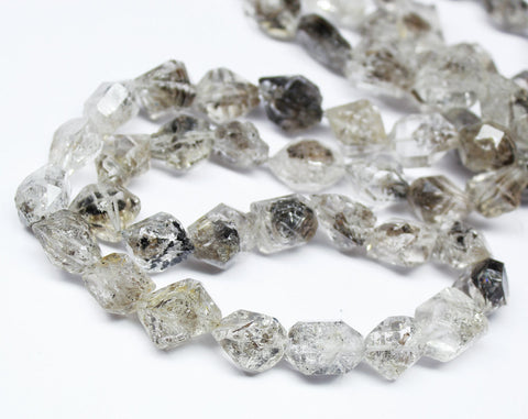 Bead, Diamond Quartz (natural), 12-16mm hand-cut faceted step cut Tumble, A grade, Mohs hardness 7, Sold per 8-inch strand SKU1601A - Jewels Exports