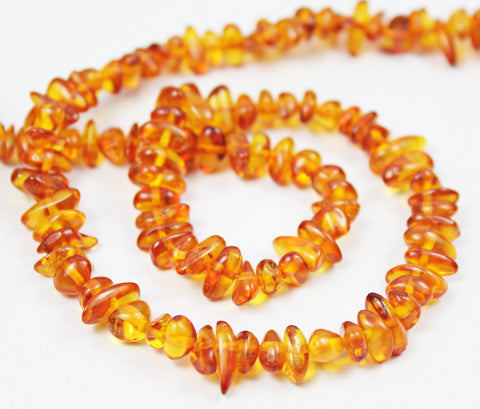 Baltic Poland Amber Smooth Chips Uneven Beads Strand, 12 inches, 5-9mm, SKU4082/J - Jewels Exports