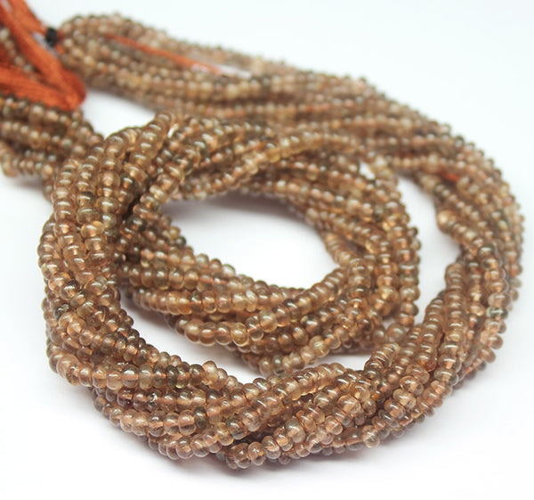 Natural Andalusite Smooth Polished Rondelle Beads Strand, 14 inches, 3.5mm, SKU5131/S - Jewels Exports