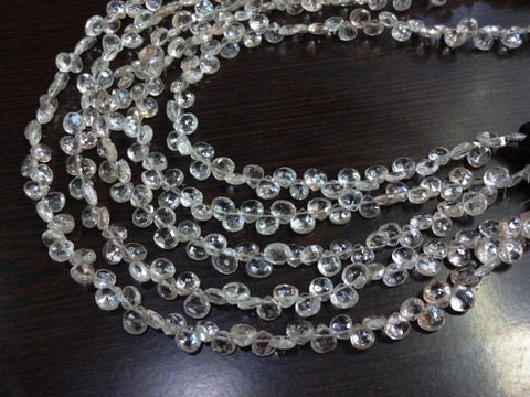 Gorgeous Natural Champagne Zircon from the earth faceted heart shape briolette size 5mm sold per 8-inch strand 100% natural - Jewels Exports