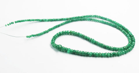 Green Emerald Faceted Rondelle Beads Strand, 20 Inhces, 3-6mm, SKU5438Rd - Jewels Exports