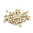 200 pc 3mm 4mm 5mm Rhodium Gold CCB Plastic Square Seeds Beads Big Hole Diy Charm Spacer Beads Jewelry Making - Jewels Exports