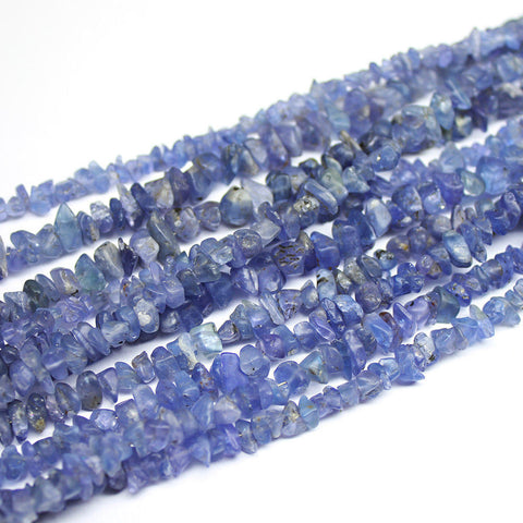 2 Strands Blue Tanzanite Uneven Chips Nugget Tumble Gemstone Beads 8