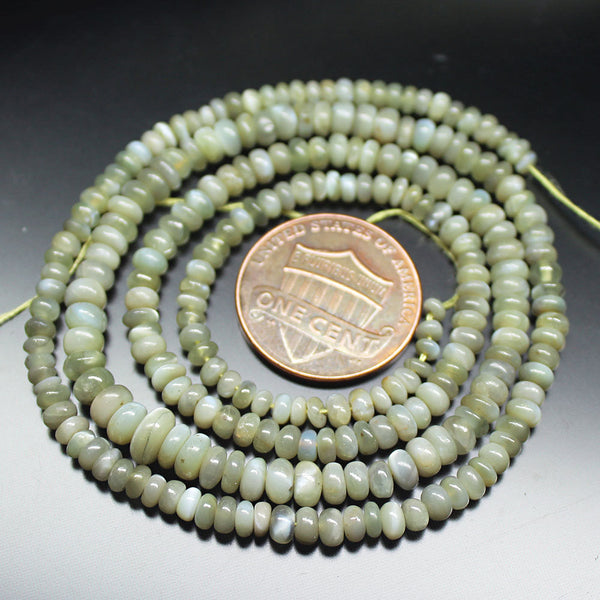 Cats Eye Chrysoberyl Smooth Rondelle Gemstone Loose Beads Strand 18