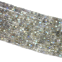 Natural Blue Labradorite Faceted Tyre Gemstone Spacer Loose Beads Strand 15