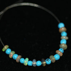 Natural Turquoise Welo Ethiopian Opal Smooth Rondelle Beads 2