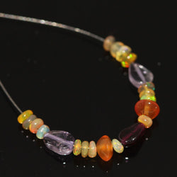 Natural Welo Ethiopian Opal Pyrite Smooth Loose Beads Rondelle 2