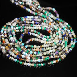 Natural Multi Gemstone Faceted Rondelle Gemstone Loose Beads Strand 3mm 13