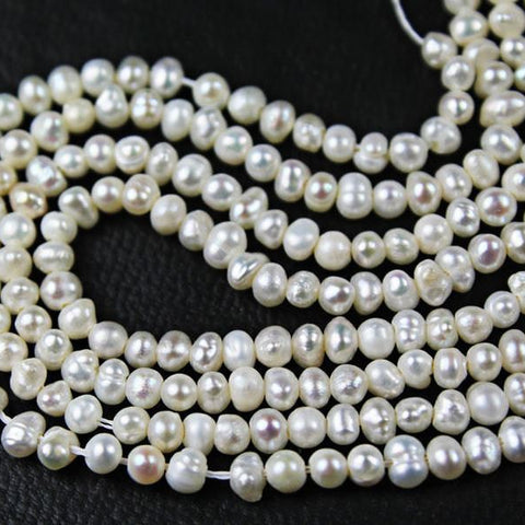 10 Strand Lot Natural Pearl Smooth Rondelle Gemstone Loose Craft Beads 15