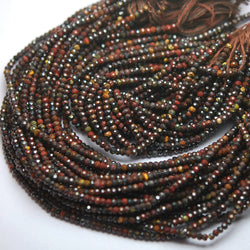 Natural Multi Tiger's Eye Micro Faceted Rondelle Loose Gemstone Beads 2.50mm 13
