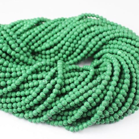 10 strand Lot Chinese Malachite Green Gemstone Smooth Round Ball Beads 16