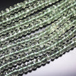 2 Strand Prasiolite Green Amethyst Faceted Rondelle Spacer Loose Beads 7mm 10""