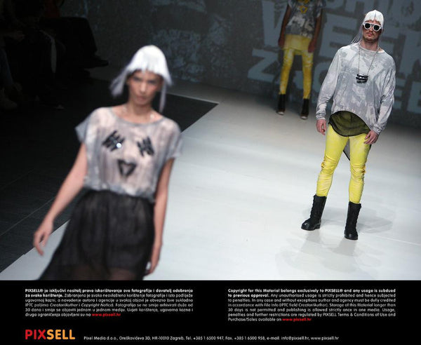 phannatiq grey yellow runway fashion week zagreb menswear womenswear