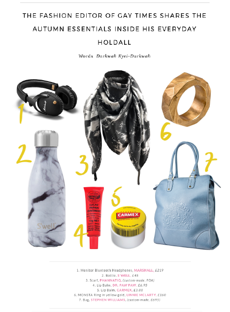 Phoenix magazine phannatiq scarf in Darkwah Kyei-Darkwah's Bag