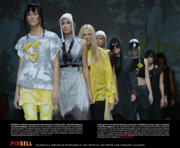 Phannatiq grey yellow fashion runway zagreb fashion week