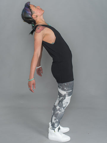phannatiq ALEX TANK Raw Edged Tank Top from an Organic Cotton and Bamboo Blend in Black