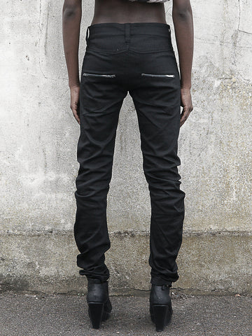 BOYFRIEND TROUSERS made from Stretch Organic Cotton in black
