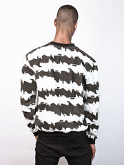 Corin Sweater Sweatshirt made from 100% Organic Cotton in cat stripe print