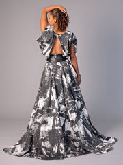 phannatiq FLORENCE DRESS An exquisite dress which has an amazing, almost circular flowing skirt This Dress has pockets and a draped bodice, cinched in at the waist with leather. It has a luxurious sheen, but isn't shiny