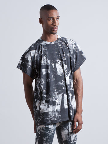 JAGGER T-SHIRT Oversized T-shirt made from Organic Cotton and Bamboo Jersey in london print
