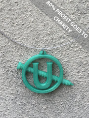 SCREW U NECKLACE Statement 3D Printed Necklace in colour change green the perfect gift