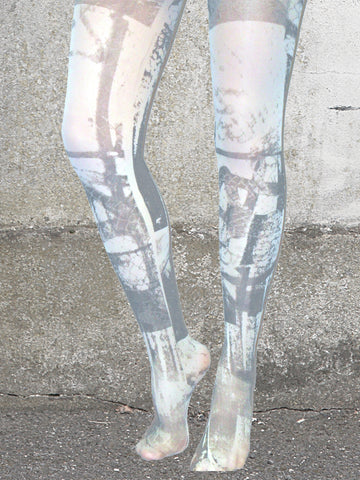 GREY URBAN PRINT TIGHTS
