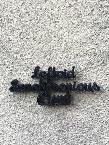 LEFTOID SANCTIMONIOUS CUNT Statement 3D Printed Necklace in black the perfect gift