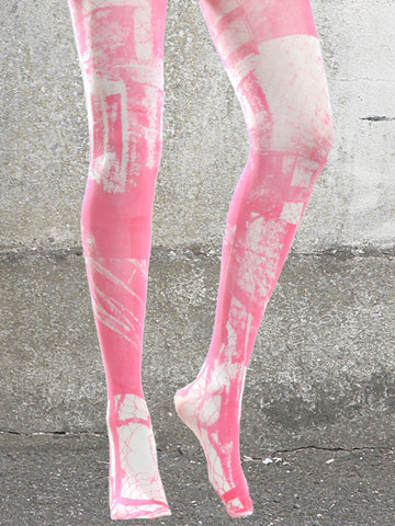 PINK URBAN PRINT TIGHTS