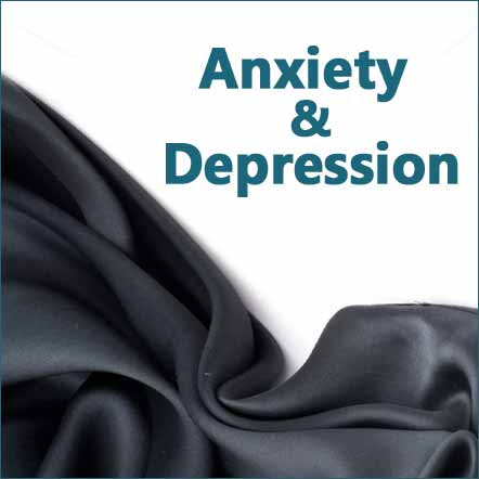 natural herbs and supplement products for mood support, depression, anxiety illustration