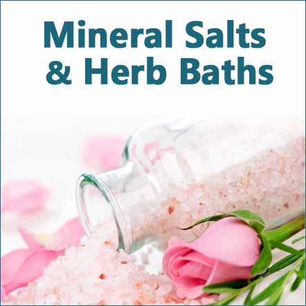 herbal bath salts and minerals for stress calm and healing image