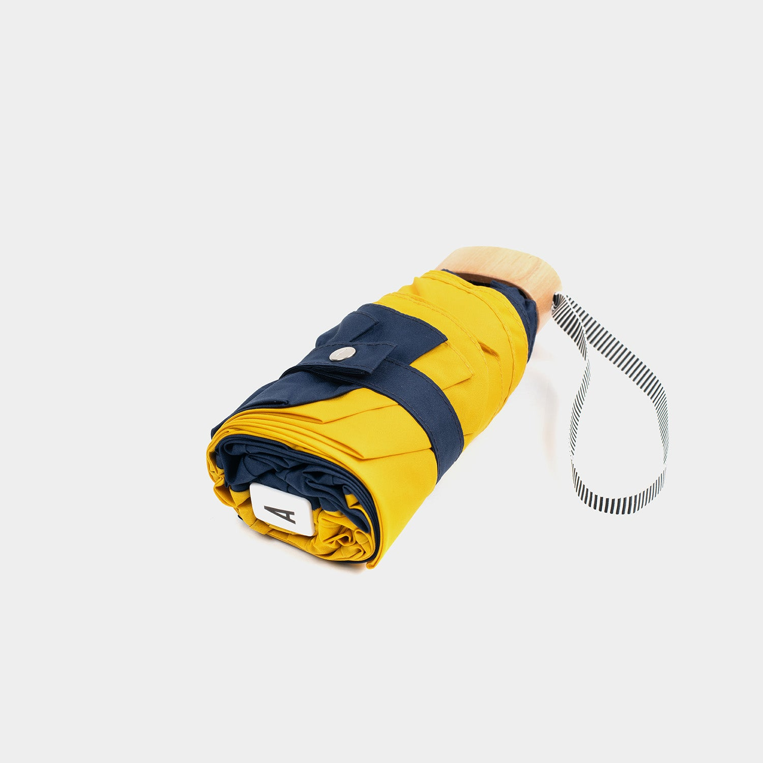 Anatole Micro Umbrella - Yellow and Navy Blue