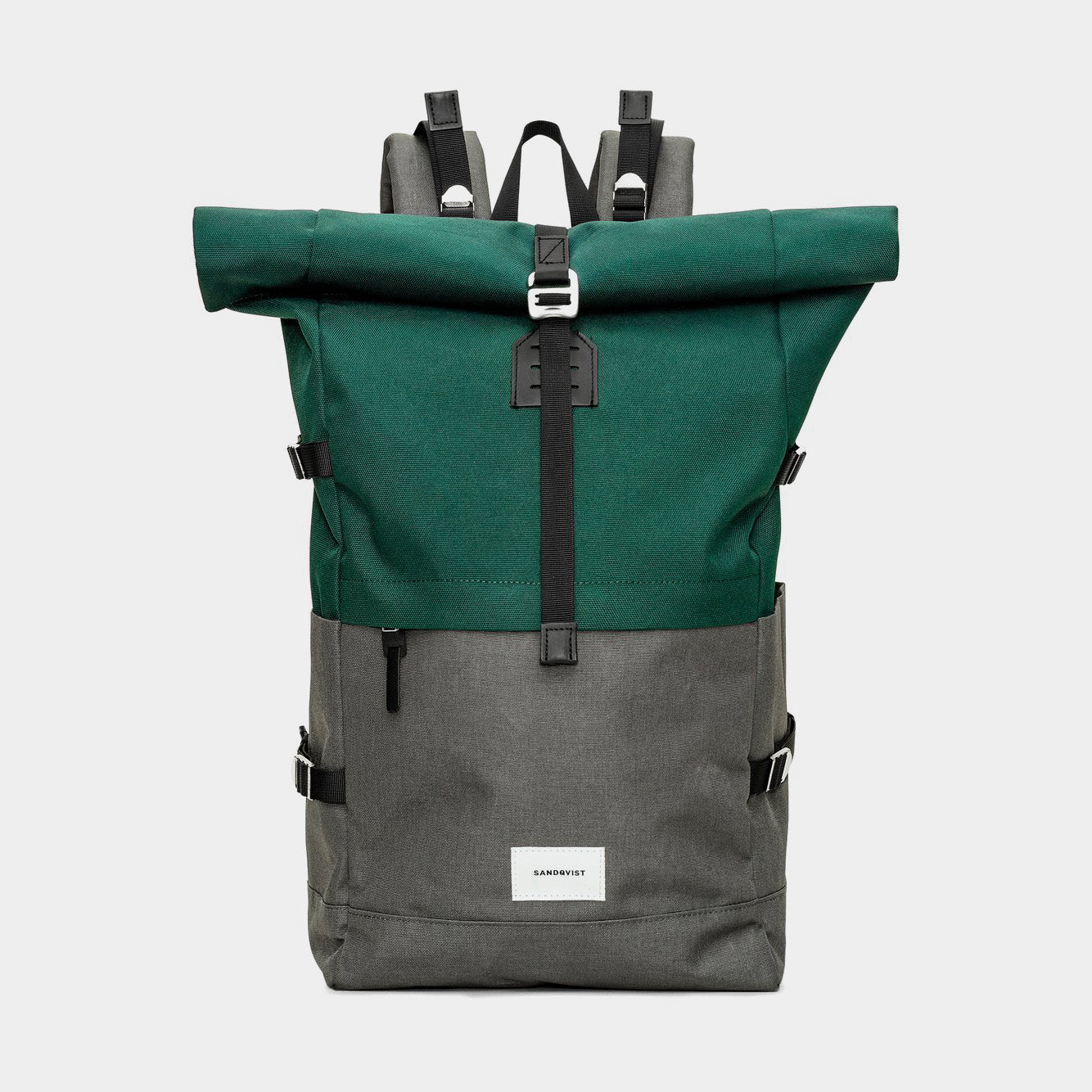 Sandqvist Bernt Backpack - Multi Deep Green/Dark Grey